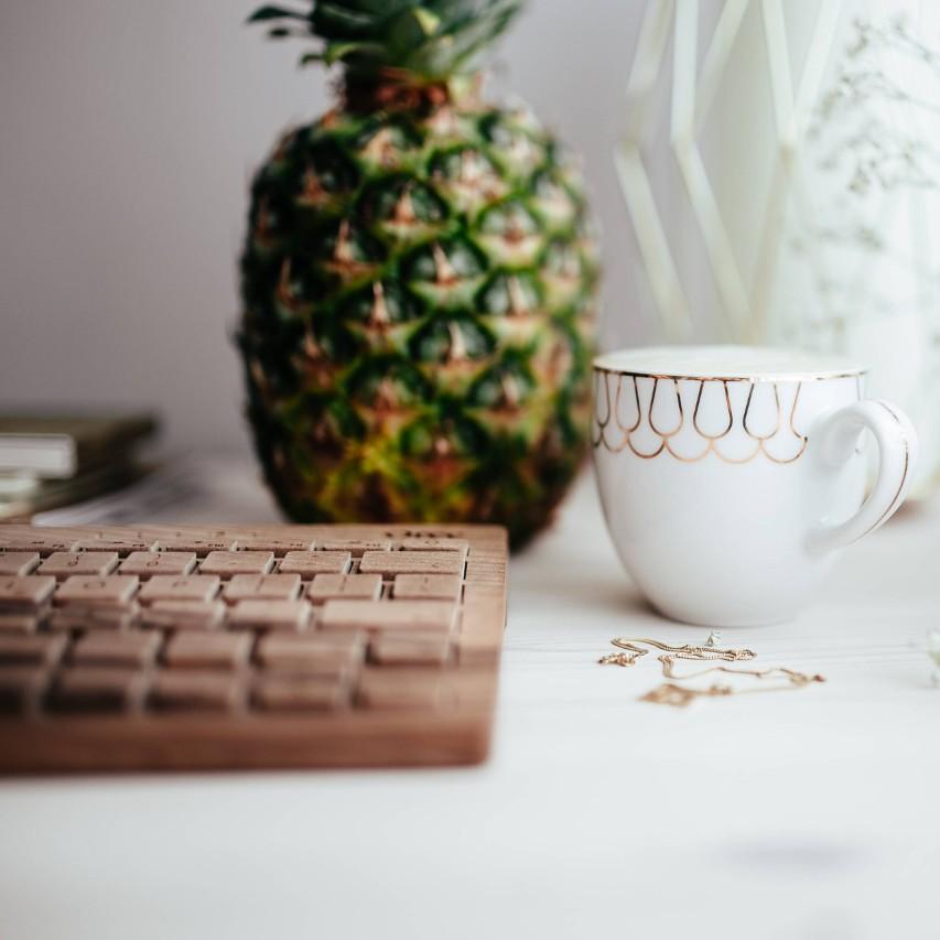 body acceptance pineapple coffee keywboard
