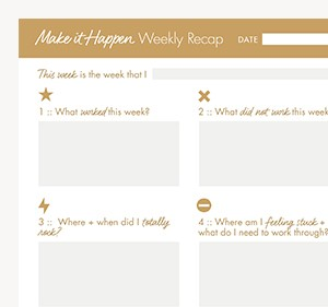 Make it happen weekly planner free download