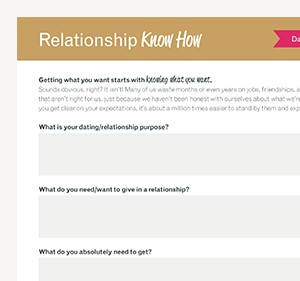 Relationship Know How free worksheet download