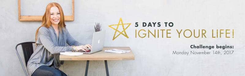 Ignite Your Life Free Challenge with Life Coach Dr. Danielle Dowling