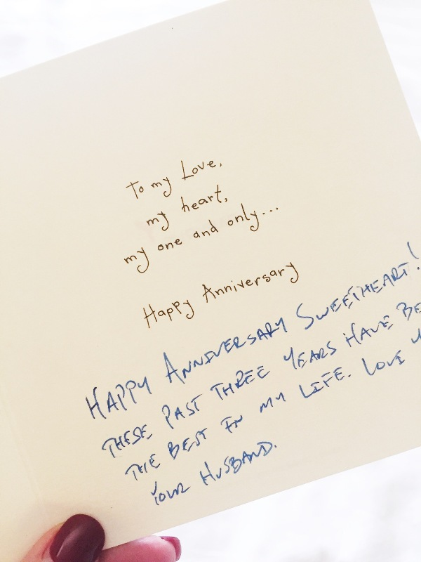 wedding anniversary card from my soulmate husband