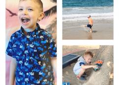 Dr. Danielle Dowling's son finding fun