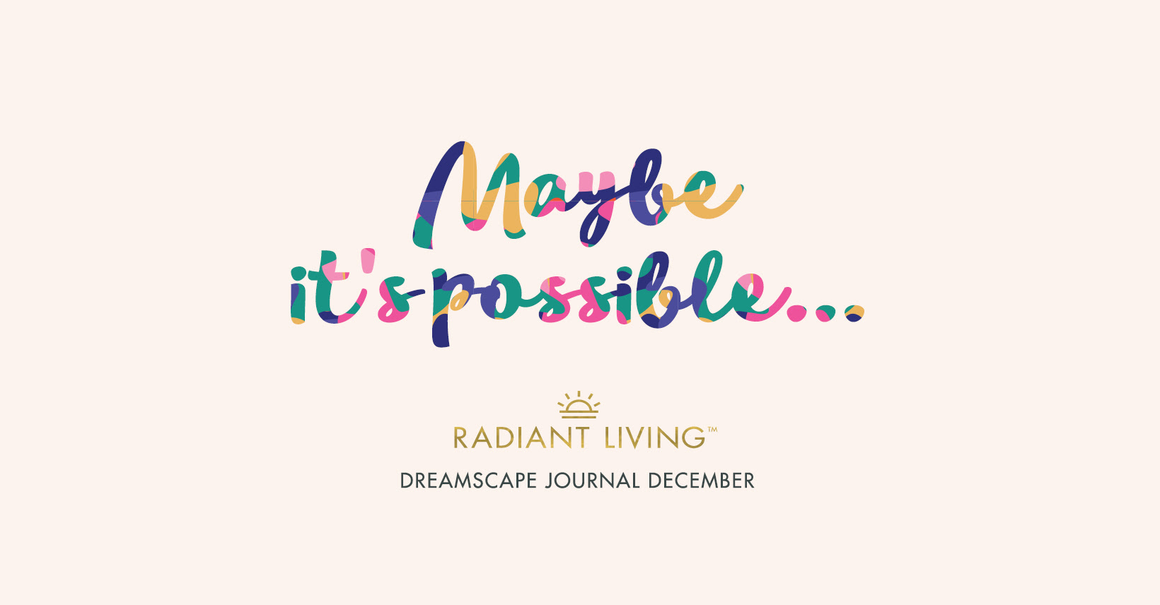 """Maybe it's possible..."" quote image"